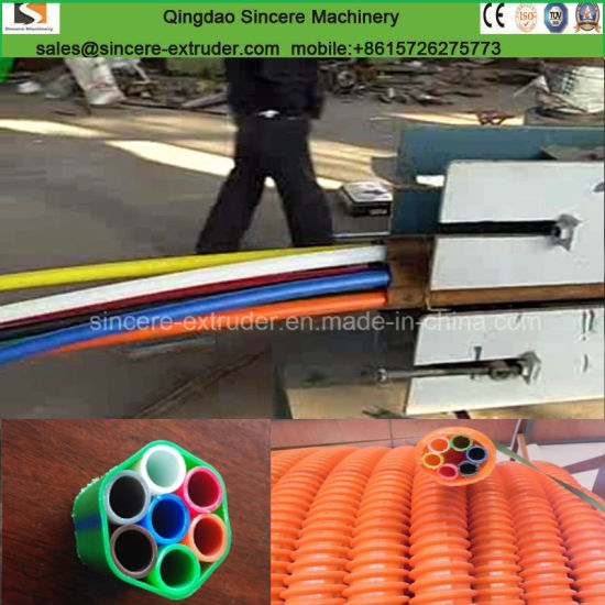 Plastic PE Sheathed Cod Tube Spiral Pipe Extruder Production Line pictures & photos