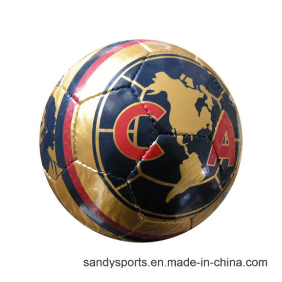 Machine Stitched PVC Rubber Bladder Soccerball pictures & photos