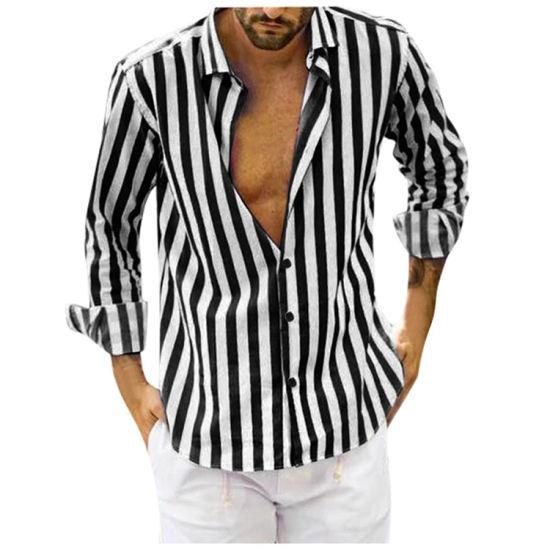 Factory Manufacture Cotton Fashion Designer Casual Summer Printed Men Shirt