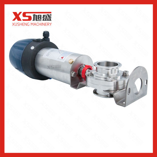 Stainless Steel Pneumatic Mix-Proof Butterfly Valve with Positioner