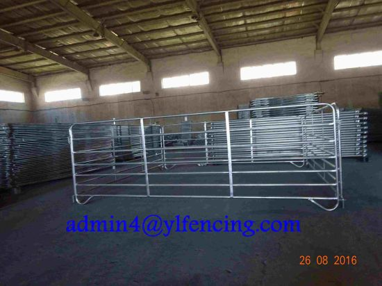 High Quality 7 Rail Interlocking Sheep Hurdle Sheep Corral Panel pictures & photos