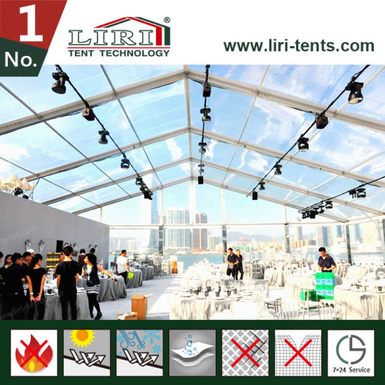 300 People Clear Tent with Clear Roof Cover and Sidewalls for Sale pictures & photos