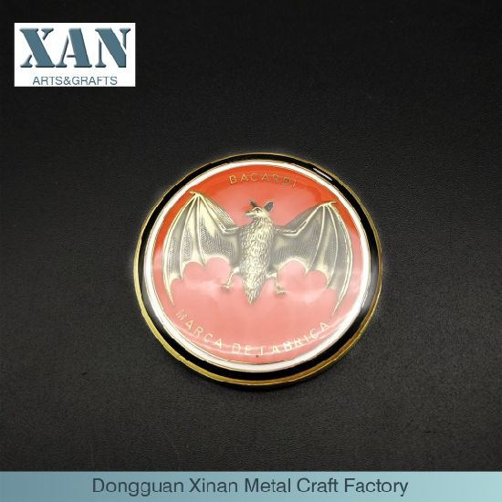a 3D Bat Coin or Sign with Epoxy Coating