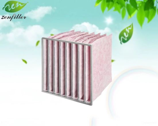 Micro Fine Glassfiber Bag Air Filter for Air Conditioning System Filtration