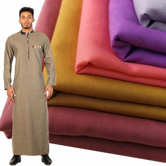 Hot Sale Microfiber Fabric 32*150d 94*78 Arab Thobe Fabric for Arab
