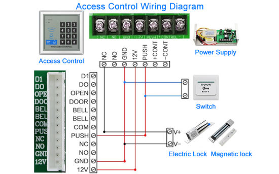 Door Access Control System Wiring Diagram from image.made-in-china.com
