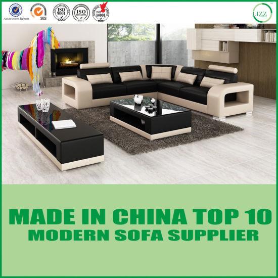 Dubai Home Living Room Furniture Italian Sectional Leather Sofa