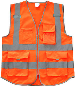 Hi-Vis String Reflective Safety Work Vest with Pockets pictures & photos