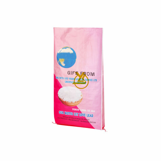 High Quality PP Custom Printed Packaging 25kg Rice Bag for Wholesale Plastic Bags for Rice Packaging