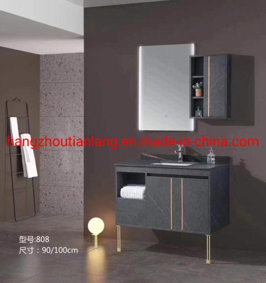 Wholesale Marble Solid Wood Bathroom Vanities Cabinets Hotel Modern Furniture