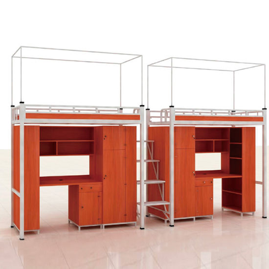 Knock Down Modern School Furniture Bunk Bed With Study Table