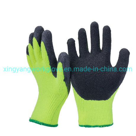 7g Acrylic Fleece Liner Coated Latex Thermal Soft Winter Work Safety Glove
