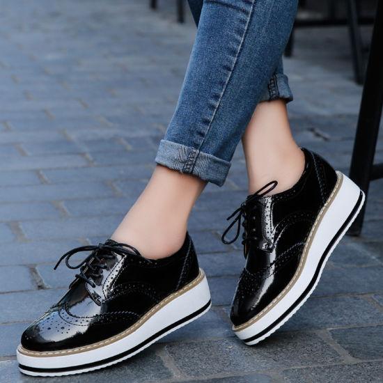 8d6e852432c0 Fashion Women Leather Platform Shoes Dress Shoes (FTS1019-31) pictures    photos