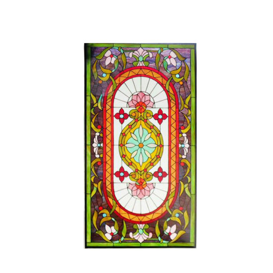 Customized Kitchen Cabinet Shatterproof Patterned Toughened Peacock Dragonfly Christmas Stained Glass
