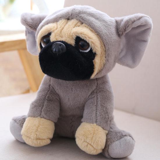 Pug Cute Sitting Animal Dog Fluffy Soft Toy Plush