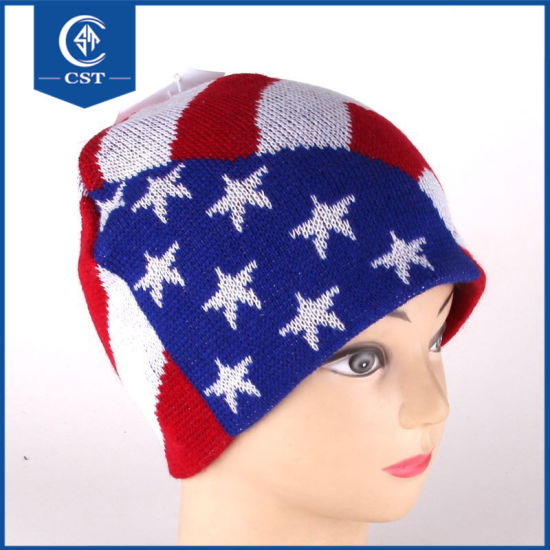 China Best Price Wholesale High Quality 100% Acrylic Striped Knitted ... 35cb5e31b5a6