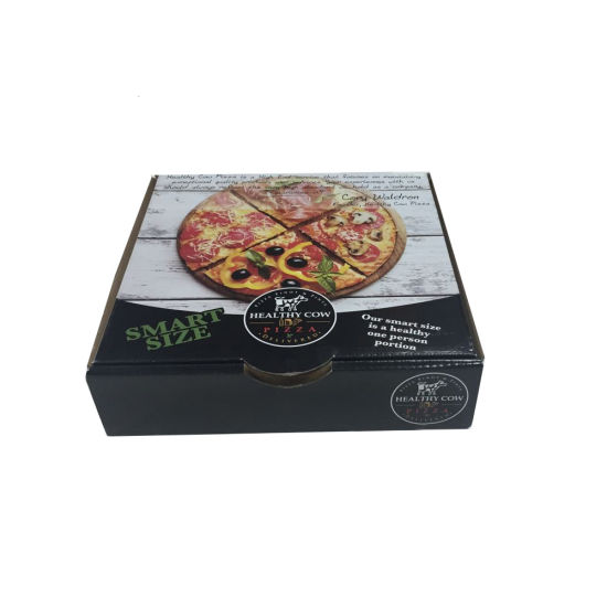 Custom Made Corrugated Paper Printed Pizza Packing Box pictures & photos