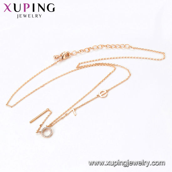 44095 Fashion Elegant 18K Gold Color Jewelry Necklace with Bead Pearls-42930 pictures & photos
