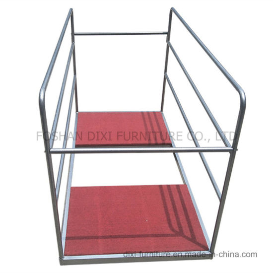 Hotel Banquet Facility Round Table Trolley Cart