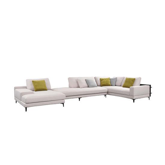 Simple Linen Fabric L Shape Sectional Corner Sofa - China ...