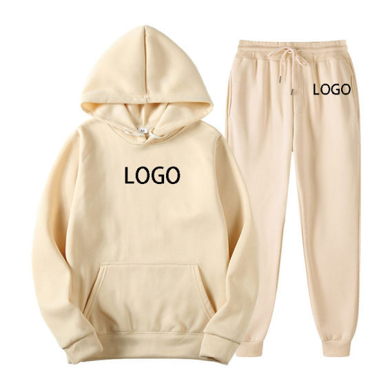 Aibort Custom Logo Ladies Tracksuit Hooded Jogging Suit Sweatsuit Set