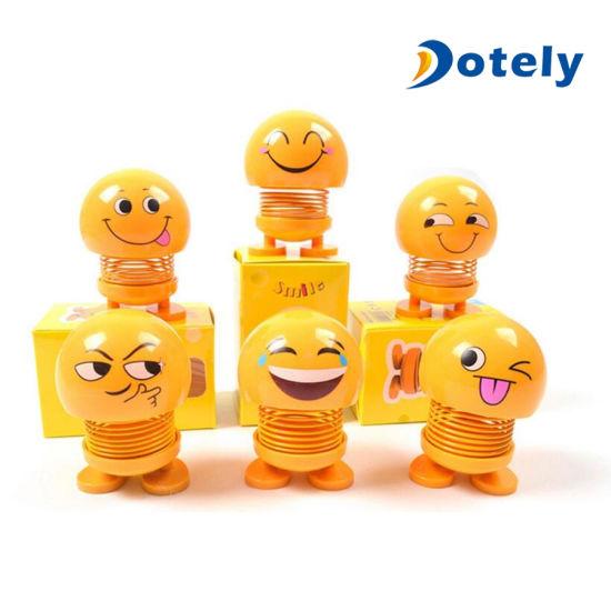 Car Smiley Face Ornaments Shaking Head Doll Funny Tongue