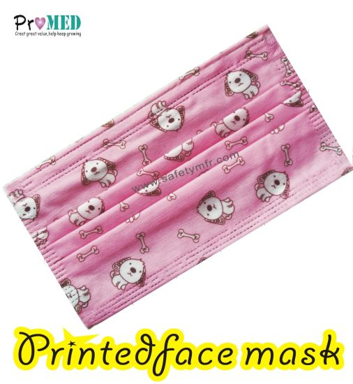 Soft Spunlace nonwoven Disposable face mask with cartoon printing