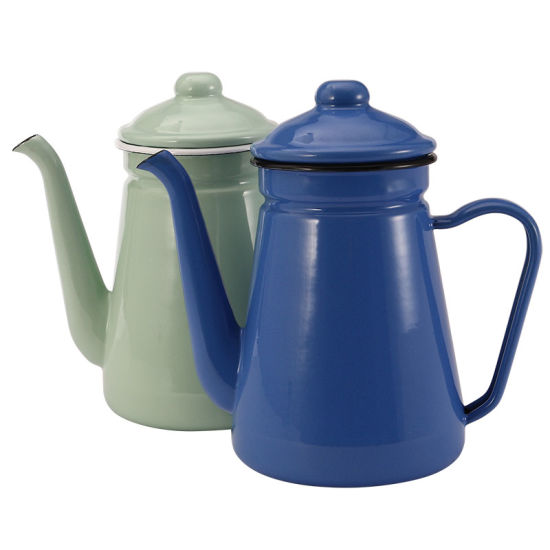 1.2L High Quality Different Color Enamelware Kitchen Use Enamel Kettle pictures & photos