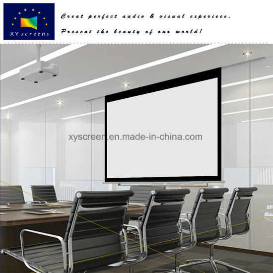 Automatic Motorized Projector Screen with Iron Housing