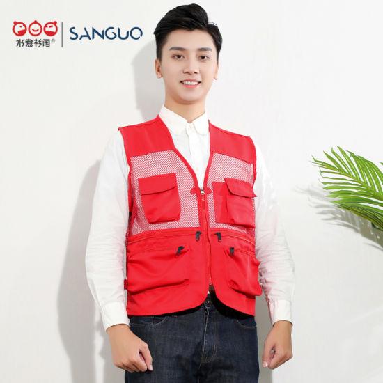 Customised Cheap Journalist Vest Fishing Vest Mens Workwear Safety Vest