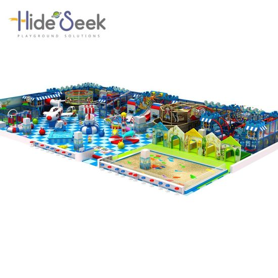 Children Play Ground Equipment with Sand Pit and Play House pictures & photos