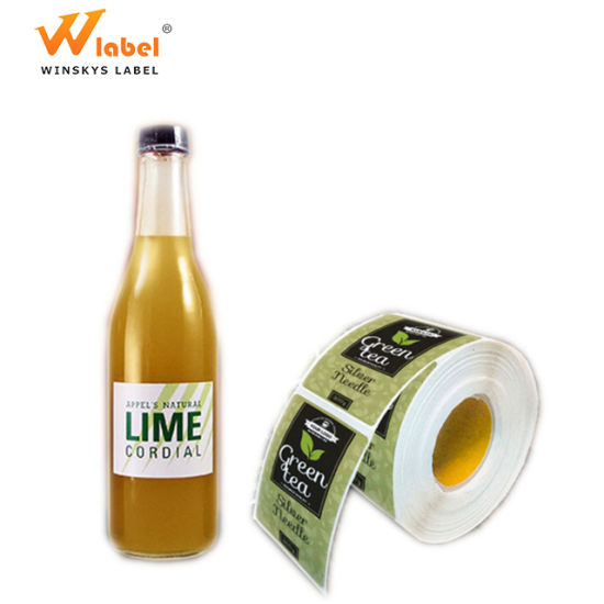 Manufacture Beverage Waterproof Private Glass Bottle Drink Label Printing pictures & photos