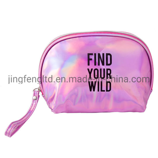 2019 Newly Fashion Holigraphic PU Young Ladies Shell Shape Cosemtic Bag pictures & photos