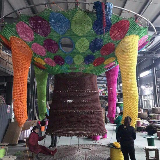 Children′ S Amusement Cage Indoor Playground Equipment for Fun Rainbow Climbing Net