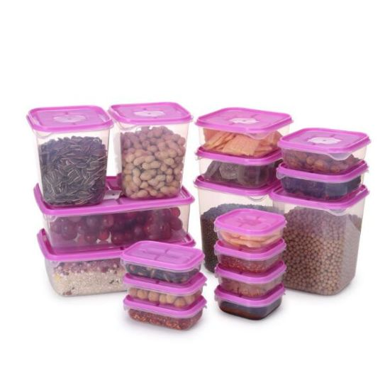 17PCS Set Plastic Airtight Food Container, Food Saver/Nested Food Containers