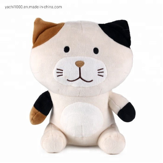 Custom ASTM Stuffed Animal Plush Toy Soft Cat for Children