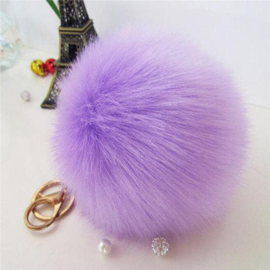 Hot Sale Fluffy Fur Ball Keychain pictures & photos