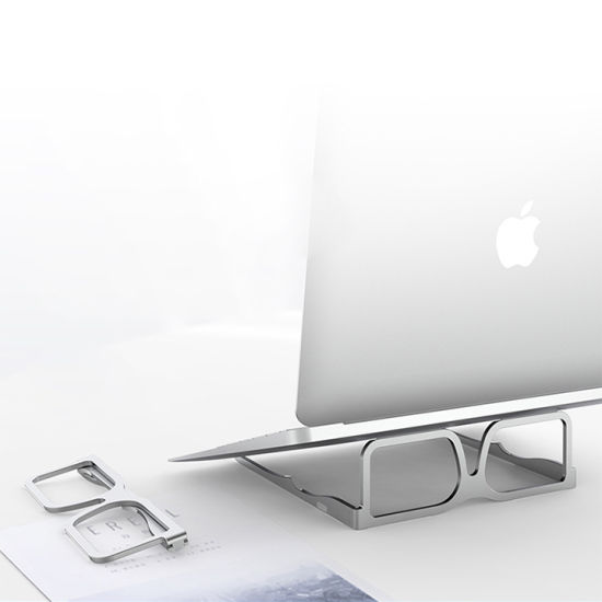 Portable Foldable Ergonomic Glasses Shape Laptop Stand for MacBook Air PRO