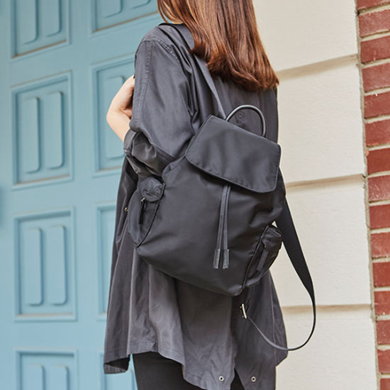 Simple Fashion Nylon Backpack School Student Business Smart Backpack Shopping Working Bagpack