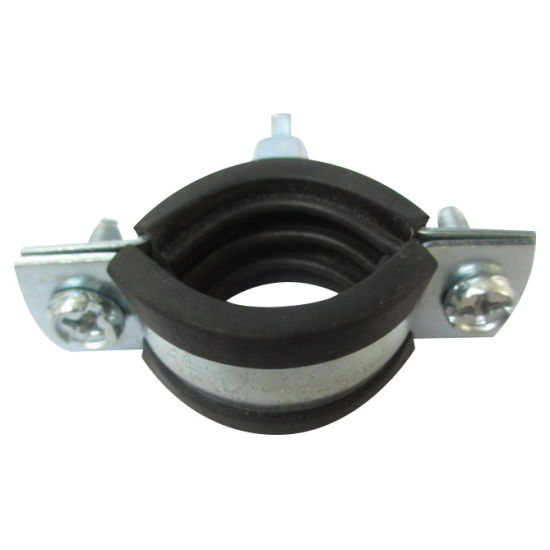 China Heavy Duty Metal Pipe Clip Hose Clamp with Rubber