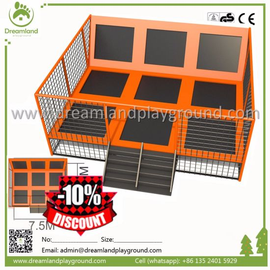 Kids Toy Indoor&Outdoor Trampoline Steel Pipe with Basketball Ball pictures & photos