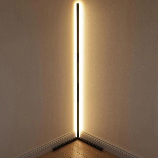 Tube Light New Design Black RGB Remote LED Corner Floor Lamp for Living Room Decoration