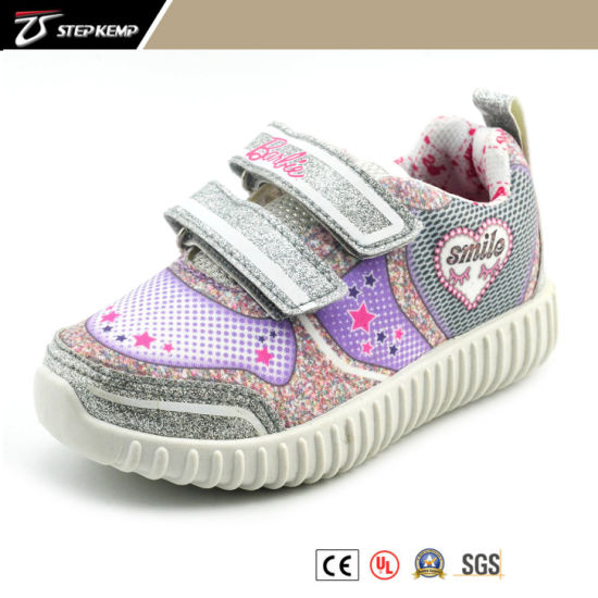 Sweet Heart Gilr Bling Bling Material Sneaker Kids Shoes 9281