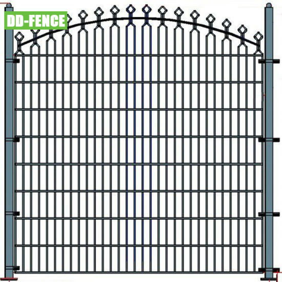 868 656 Double Horizontal Metal Wire Welded Arch Top Rta Decorative Mesh Fence for Garden Pedestrian Park Factory Villa School Residential