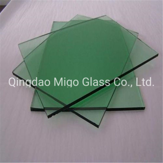 Green Tinted Glass for Building Wall/Colored Glass/Tinted Float Reflective Glass