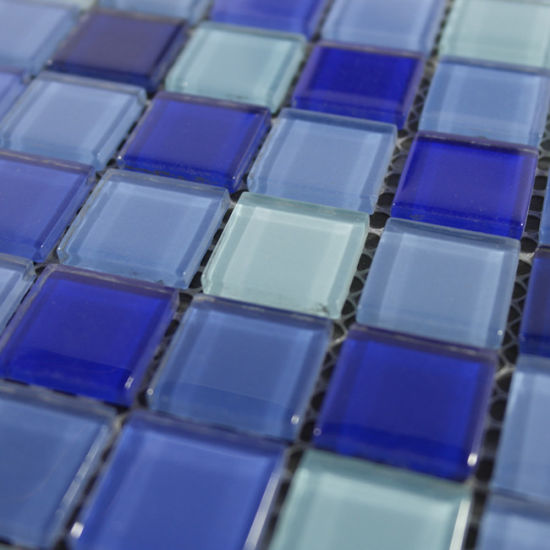 Hot Sale Blue Glass Mosaic Tile for Swimming Pool
