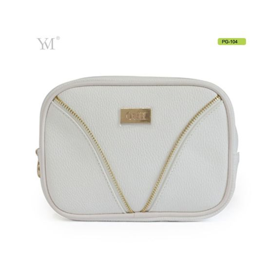 566d41456a99 China Ladies Personal Custom PU Leather Cosmetic Makeup Toiletry Bag ...