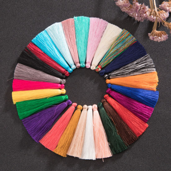 6.5cm Handmade Jewelry Findings Components Rayon Silk Tassels for Curtain pictures & photos
