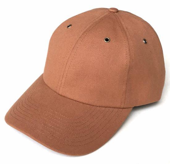 e30fa6597f622 China Cutom Brown Colour Canvas Material Plain Baseball Cap - China ...