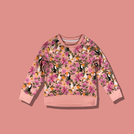 Floral Simple Contract Color Children Fashion Top Kids Wear Baby Clothes